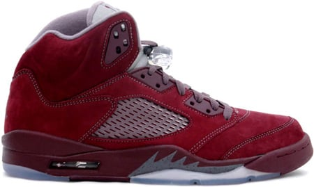 Air Jordan 5 (V) Retro Deep Burgundy / Light Graphite - Silver