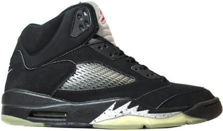 Air Jordan 5 (V) 2000 Retro Black / Black - Metallic Silver
