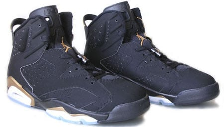 air jordan 6 black and gold