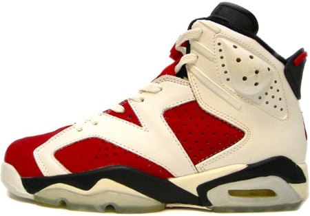 air jordan 6 white\/carmine\/black (1991) regarding