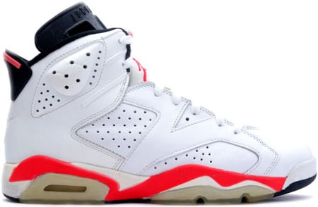 Air Jordan Original / OG 6 (VI) White / Infra Red - Black