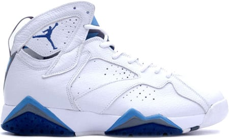 Air Jordan 7 (VII) Retro White / French Blue - Flint Grey