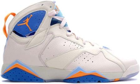 Air Jordan 7 (VII) Retro Pearl White / Bright Ceramic - Pacific Blue