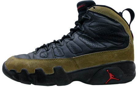 Air Jordan Original / OG 9 (IX) Olives Black - Light Olive - True Red