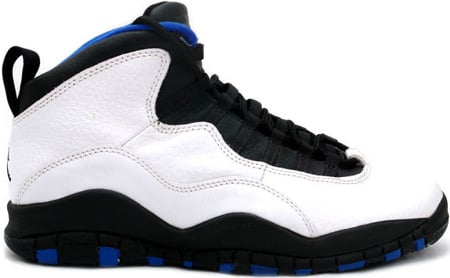Air Jordan Original – OG 10 (X) Orlando Magic White / Black – Royal Blue –  Metallic Silver