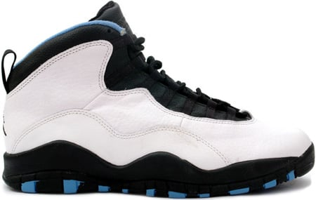 Air Jordan Original 10 (X) Charlotte Hornets White / Black - Dark Powder Blue