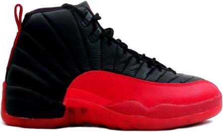 air jordan 12 black red 1997 red