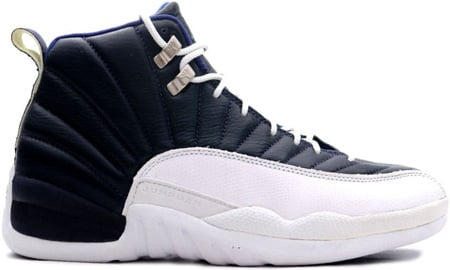 Air Jordan Original / OG 12 (XII) Obsidian - White - French Blue
