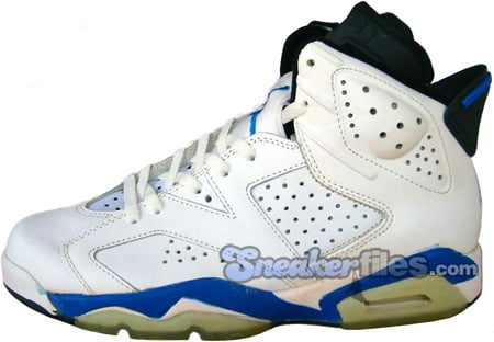 Air Jordan Original 6 (VI) Sport Blue White / September Blue - Black