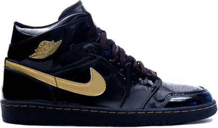 Air Jordan 1 (I) Retro Patent Leather Black / Metallic Gold