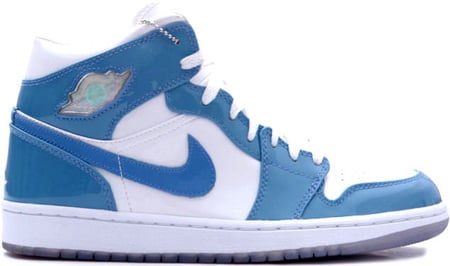 ... air jordan 1 i retro patent leather white carolina blue