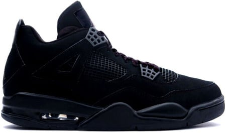 Air Jordan 4 (IV) Retro Black Cats Black / Black - Light Graphite