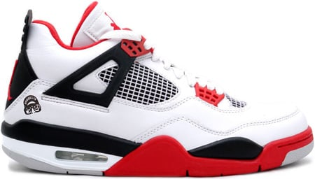 Air Jordan 4 (IV) Retro Mars Fire Reds White / Varsity Red - Black