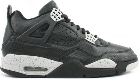 f3b08f2e51ba Air Jordan 4 (IV) Oreo Retro Black   Black - Cool Grey