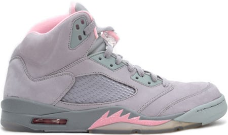 Air Jordan 5 (V) Retro Womens Silver / Shy Pink - Stealth