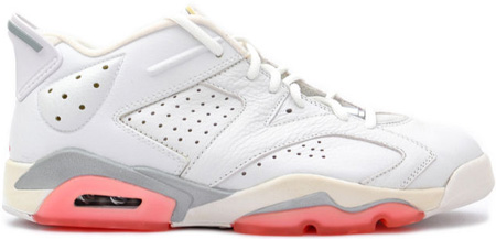 sale retailer d4b81 ae63f Air Jordan 6 (VI) Retro White / Coral Rose Womens Low ...