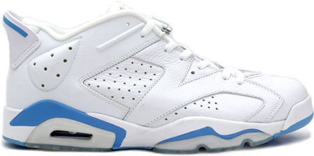 low priced db5fd 93b35 Air Jordan 6 (VI) Retro White / University Blue Low ...