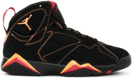 on sale f3aa1 b4349 Air Jordan 7 (VII) Retro Black   Citrus - Varsity Red