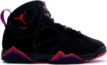 Air Jordan 7 (VII) Retro Raptors Black / Dark Charcoal - True Red