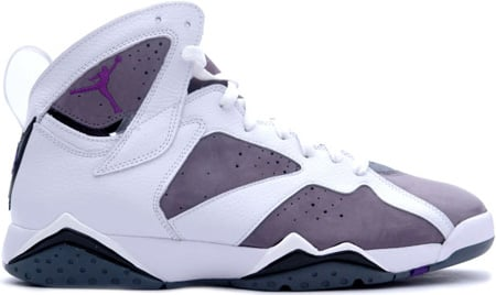 new style 021b9 582a7 Air Jordan 7 (VII) Retro White   Varsity Purple - Flint Grey