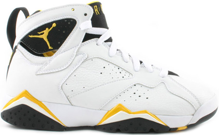 Air Jordan 7 (VII) Retro Womens White / Varsity Maize - Black
