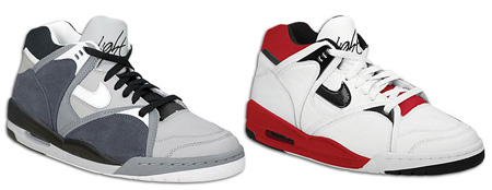 Nike Air Bound 2 Retro - White / Black / Varsity Red and Silver / White / Black / Anthracite
