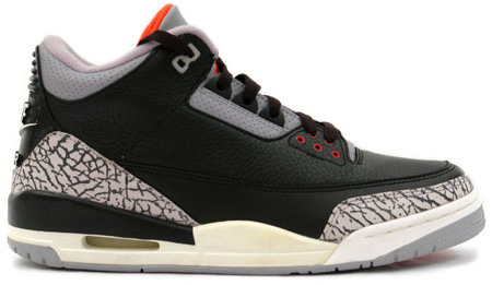 Air Jordan III (3) - Black/Cement Grey/Varsity Red Countdown Pack 2008 Retro