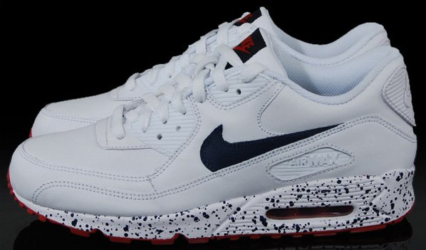 Nike Euro Champs Air Max 90 Premium - White / Navy / Red