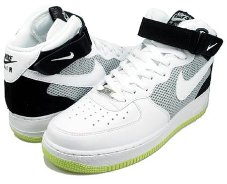 Nike Air Force 1 Mid '07 - White/Black/Neon Yellow