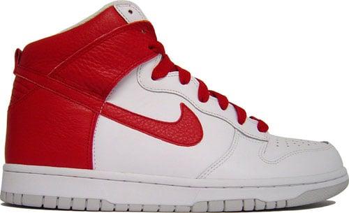Nike Dunk Hi White/Varsity Red at Purchaze