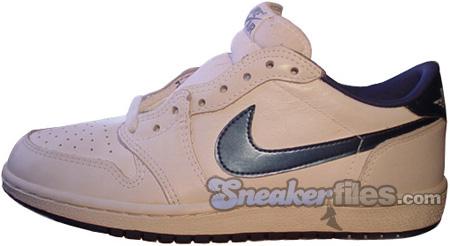Air Jordan Original / OG 1 (I) Low White / Metallic Blue