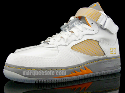 Air Jordan Force Fusion V (5) - White / Orange Peel