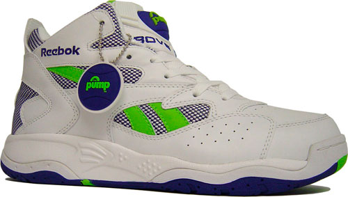 Reebok Pump D-Time White/Royal/Green at Purchaze