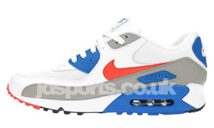 Nike Air Max 90 White / Sunburst / Dark Electric Black