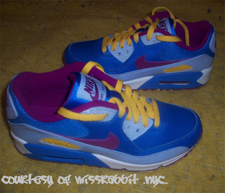 Nike GS Air Max 90 CL - New Blue//Red Plum/Varsity Maize