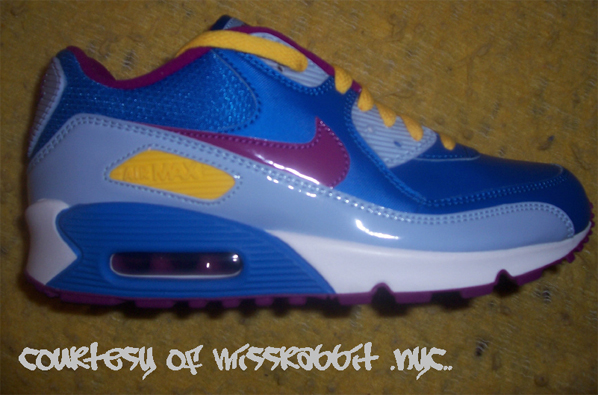 Nike GS Air Max 90 CL - New Blue/Plum/Varsity Maize