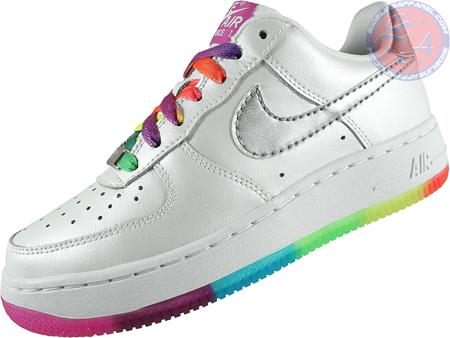 Nike Air Force 1 GS - White/Metallic Silver/Bright Fuchsia
