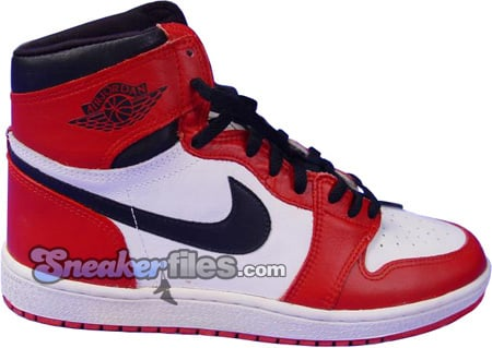 Air Jordan Original / OG 1 (I) White / Black - Red