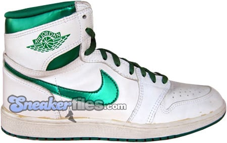 retail prices sale online various styles Air Jordan 1 (I) Original - OG White / Metallic Green ...