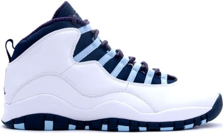 Air Jordan 10 (X) Retro Ice Blues White / Obsidian - Ice Blue - Varsity Red