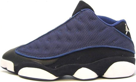 Air Jordan Original - OG 13 (XIII) Low Navy / Metallic Silver - Black - Carolina Blue
