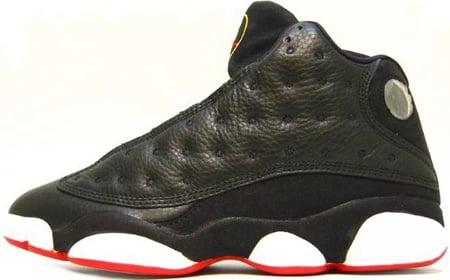 Air Jordan Original / OG 13 (XIII) Playoff Black / True Red - White