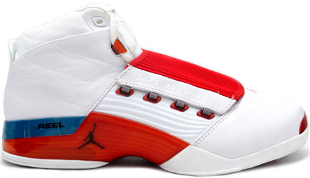 Air Jordan 17 (XVII) Original / OG White / Varsity Red - Charcoal