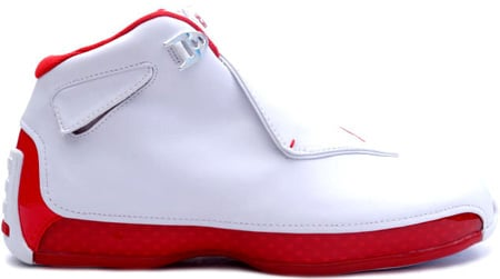air jordan xviii 18 white/varsity red