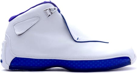 Air Jordan 18 (XVIII) Original / OG White / Black - Sport Royal