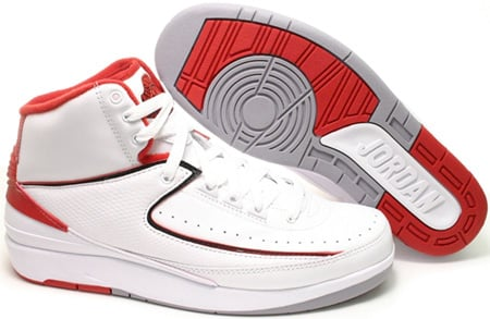 Air Jordan 2 (II) Retro White / Varsity Red Countdown Pack