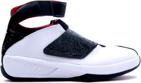 Air Jordan 20 (XX) Original / OG Quickstrike White / Black - Varsity Red