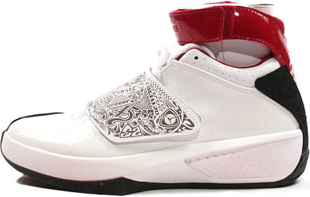 air jordan 20 white red black