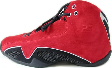 air jordan 21 black metallic silver varsity red