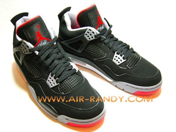 Air Jordan Retro 4 (IV) Black / Cement Grey - Fire Red Countdown Pack